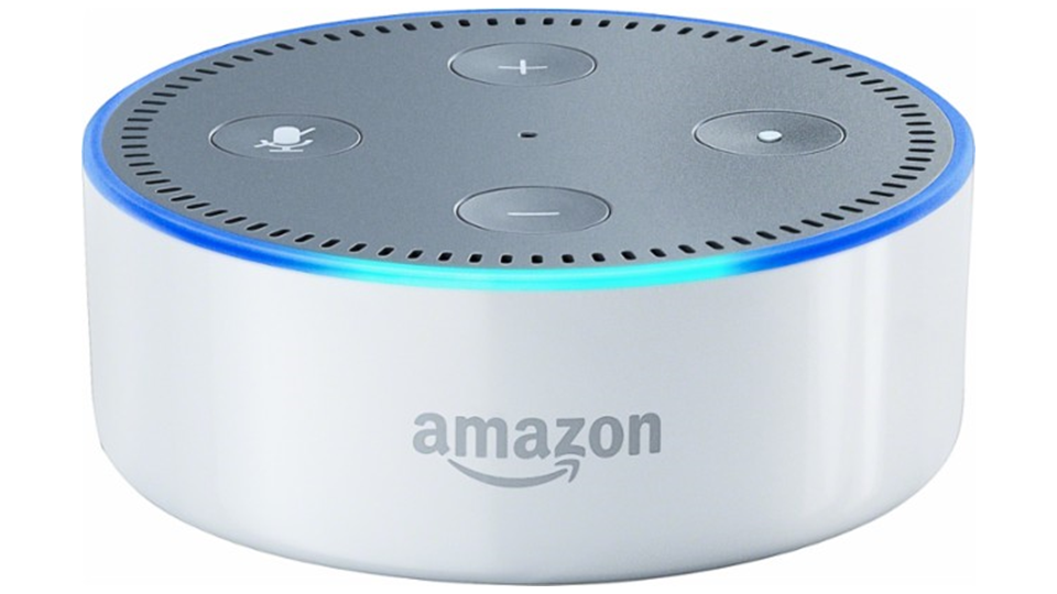 White Echo Dot